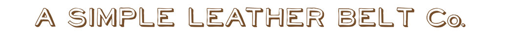 A Simple Leather Belt Co. Logo
