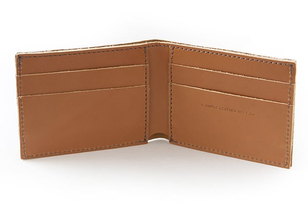 Essential Wallet Scotch Inside - Simple Leather Belt Co